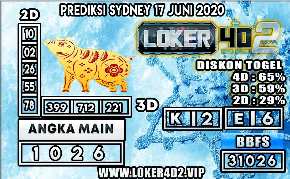 PREDIKSI TOGEL SYDNEY LOKER4D2 17 JUNI 2020