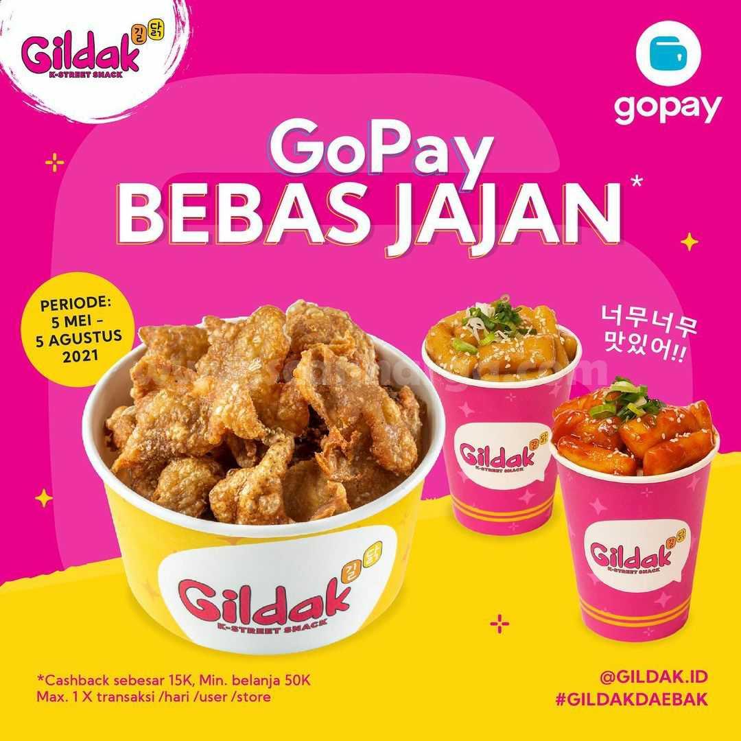 GILDAK Promo BEBAS JAJAN dengan GOPAY