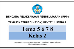 Download RPP 1 Lembar PJOK KK 13 SD/MI Kelas 2