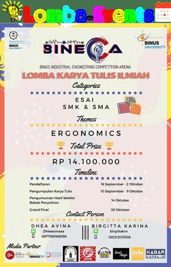 Lomba Karya Tulis Ilmiah BINECA Binus 2019 SMA Sederajat