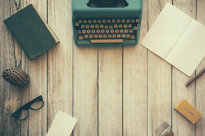 typewriter and books from pixabay.com