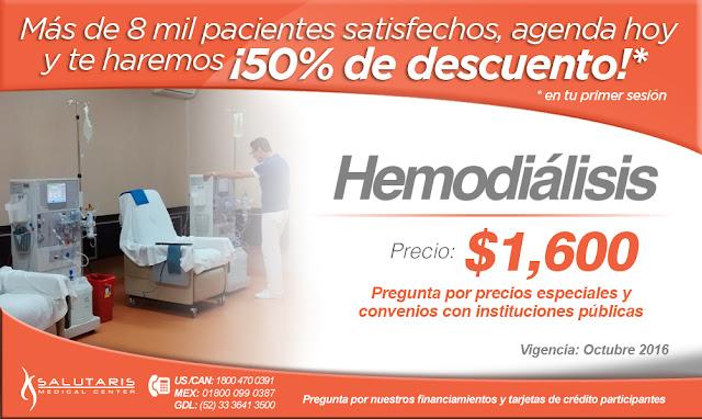 Paquete de hemodialisis al mejor precio costo y atencion en guadalajara jalisco