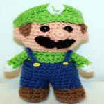 patron gratis Luigi super Mario amigurumi