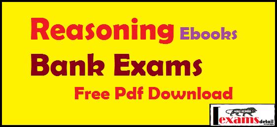 Reasoning for bank exams pdf writer
