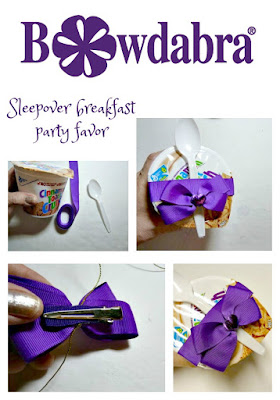 Sleepover breakfast party favor