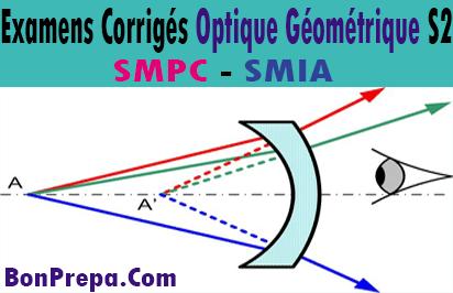 Examens Corrigés Optique Géométrique S2