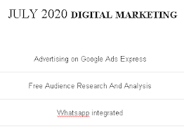 DIGITAL MARKETING - JULY 2020