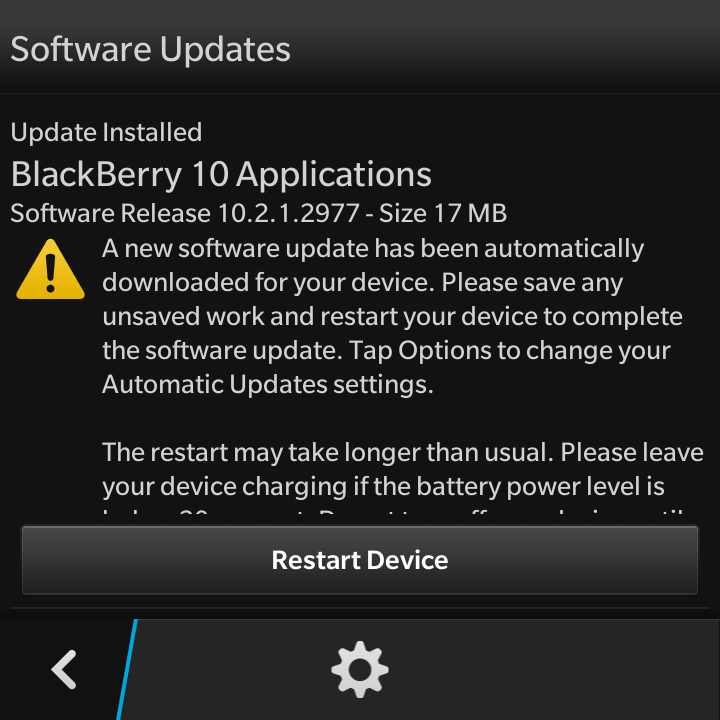 My Tech Blog: Blackberry 10 Software Update Available for