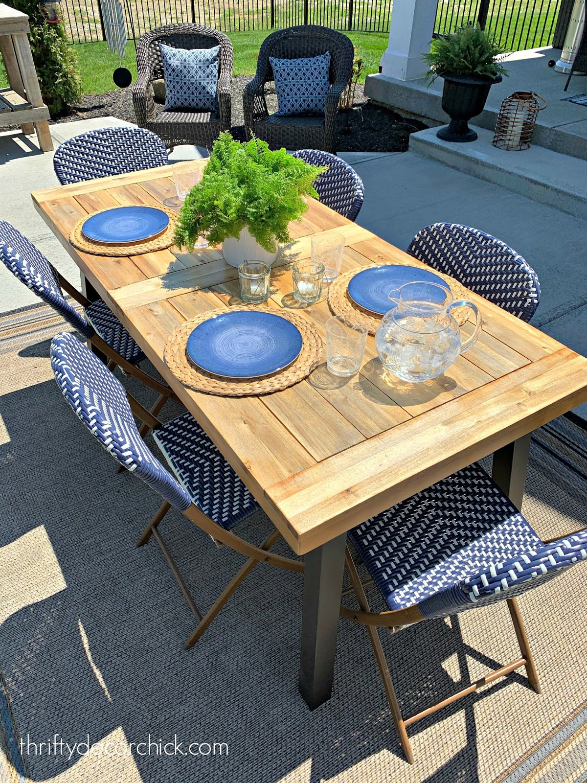 Refinished outdoor wood table