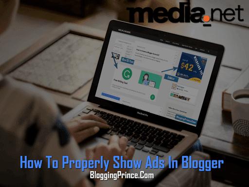 Properly Show Media.Net Ads In Blogger Blog