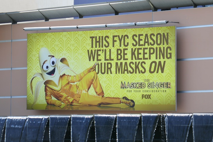Masked Singer 2020 Emmy FYC mask billboard