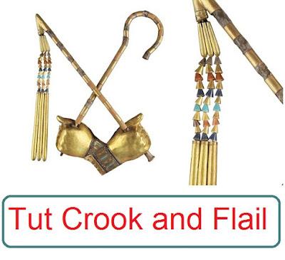 Tutankhamun Crook and Flail