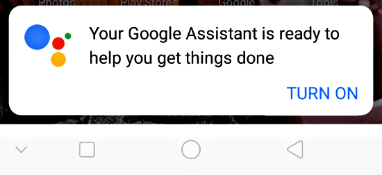 turn on Assistant