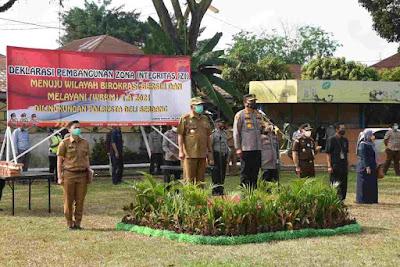 Pemkab Deli Serdang Apresiasi Deklarasi Zona Integritas Menuju WBK Dan WBBM Di Polresta Deli Serdang