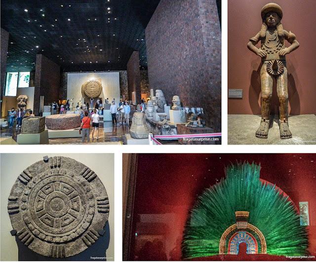 Sala da Cultura Mexica (Asteca) no Museu Nacional de Antropologia do México