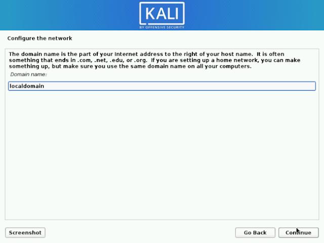 Domain Network Kali Linux