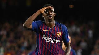 Ernesto Valverde hailed 'great player' Ousmane Dembele