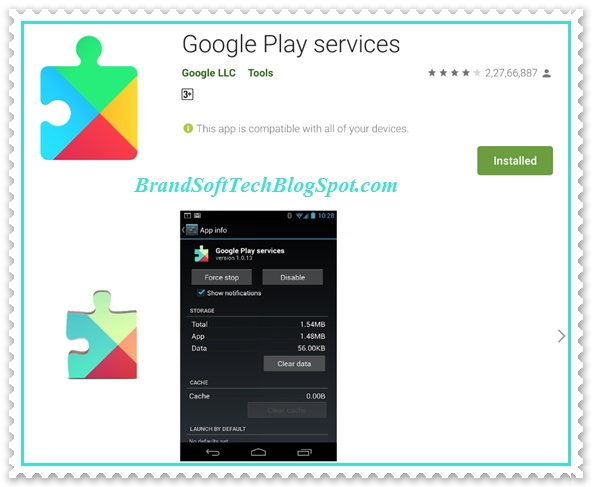 Google PlayServices update 2021