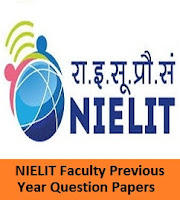 NIELIT Faculty Previous Year Question Papers