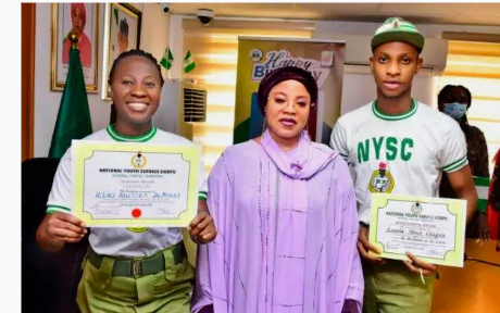 Two corps members gain work in Federal government house