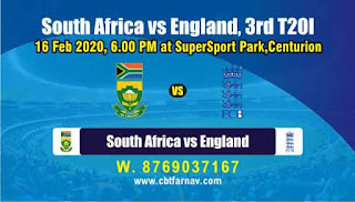 South Africa vs England 3rd T20 100% Sure Prediction Tips Free