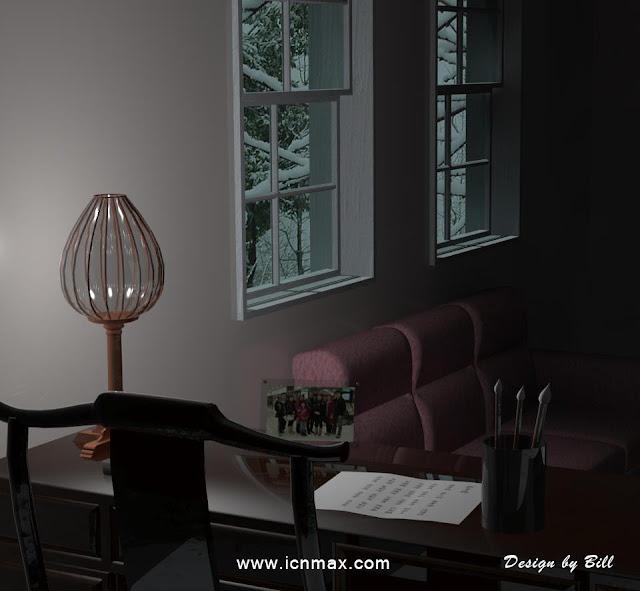 3dsMax書房設計作品