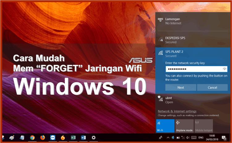 cara melupakan wifi di windows 10