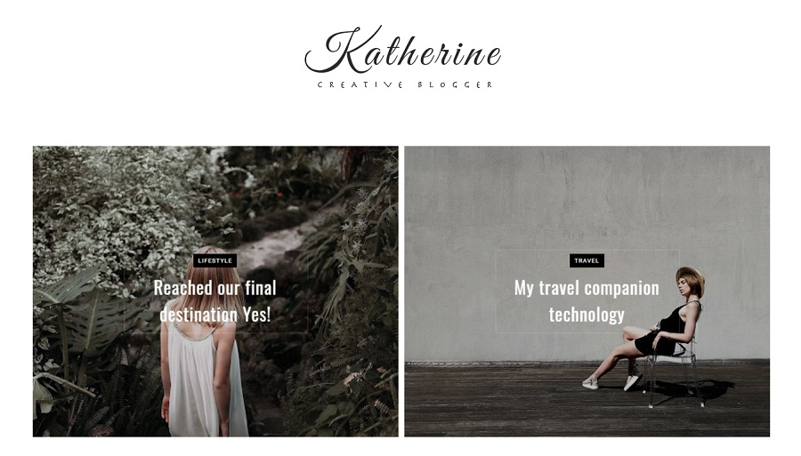 Katherine - Responsive Creative Blogger Template