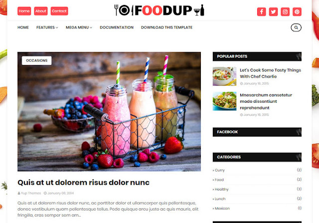 FoodUp Blogger Template