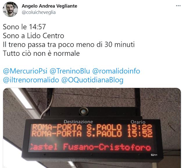 Roma-Lido, quando la campagna elettorale viaggia su rotaie
