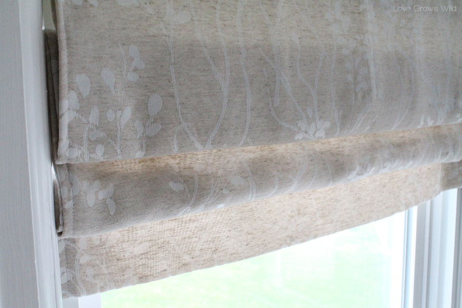 How To Make A Faux Roman Shade Love Grows Wild