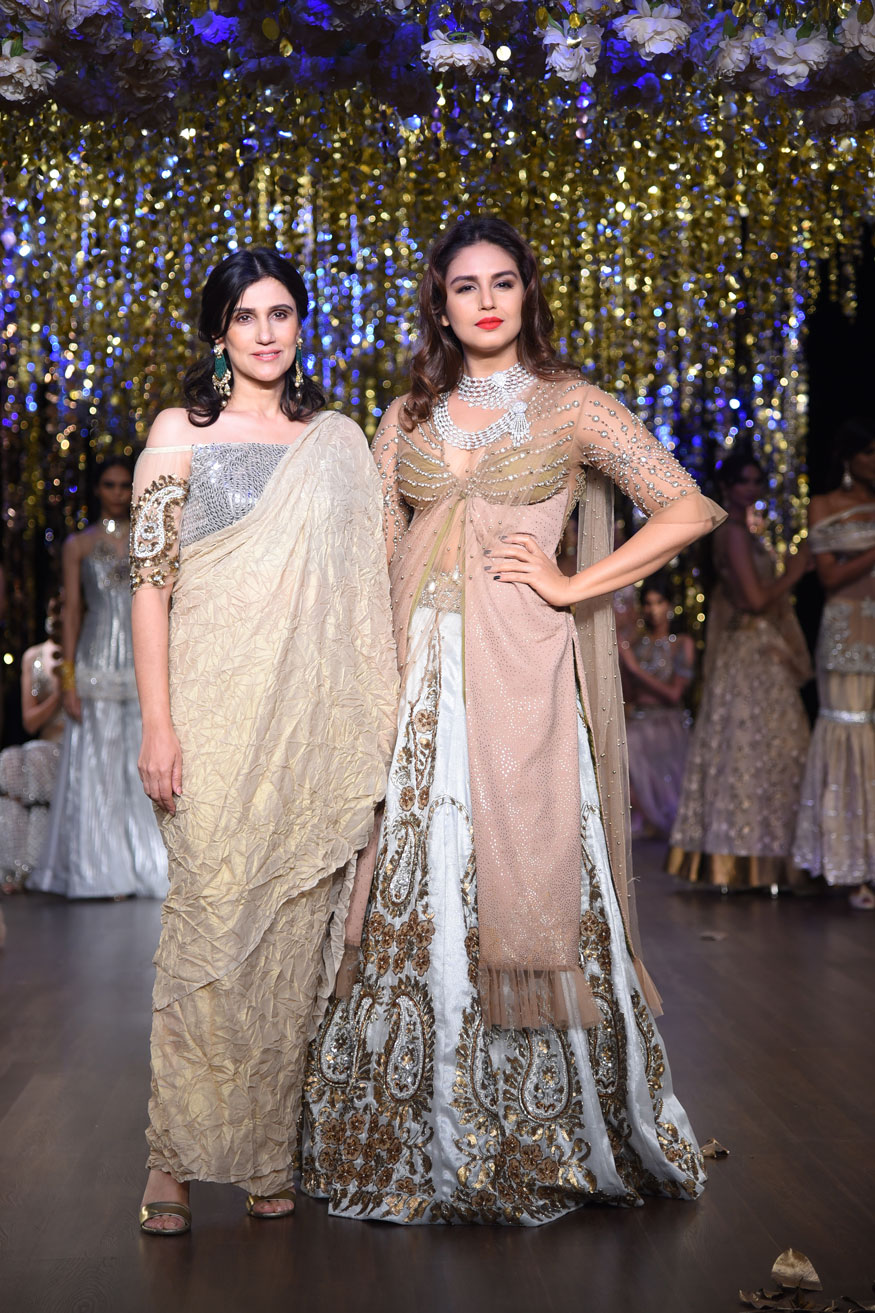Huma Qureshi, Shilpa Shetty and Aditi Rao Hydari at India Couture Week 2017