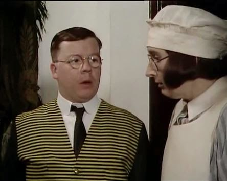 Perry Benson and Su Pollard in the BBC series 'You Rang M'Lord'