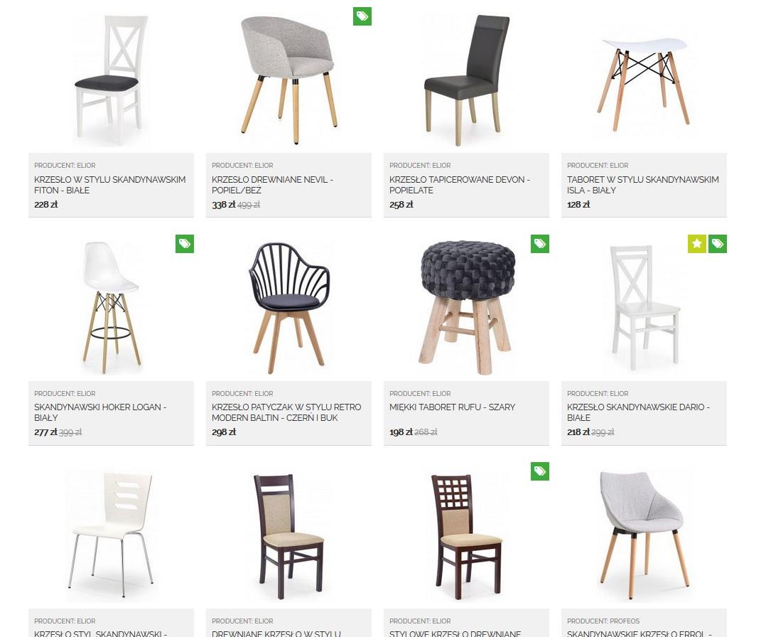 Edinos Krzesła w skandynawskim stylu