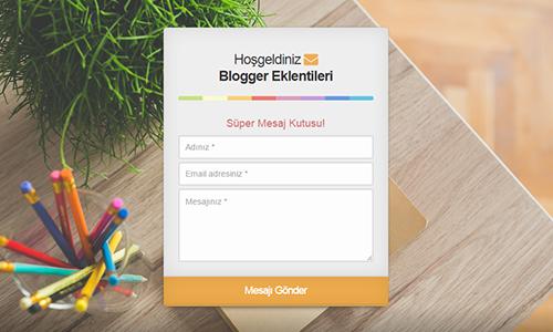 Blogger İletişim Formu Animasyonlu PHP Versiyonu