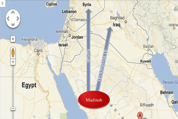 peta ekspansi pada masa khalifah abu bakar