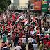 Manifestantes realizam protesto para apoiar ex-presidente Lula em Garanhuns