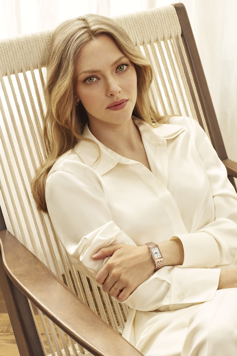 Amanda Seyfried sits for shoot marking 90th anniversary of Jaeger-LeCoultre Reverso