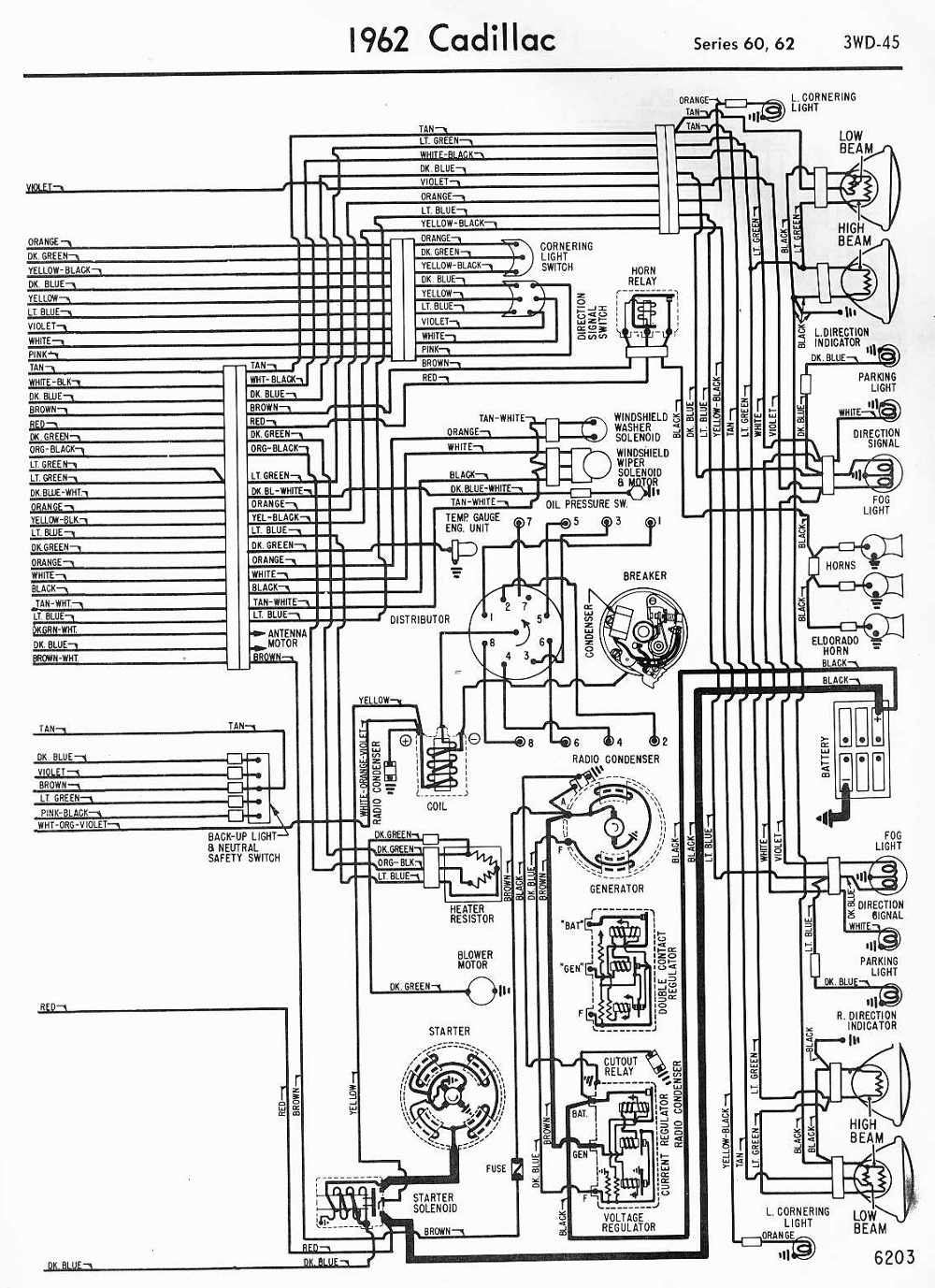 hight resolution of wiring diagrams schematics 1962 cadillac series 60 and 62 part 2