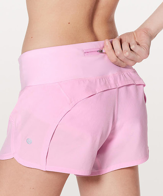 lululemon pearl-pink run-times-short