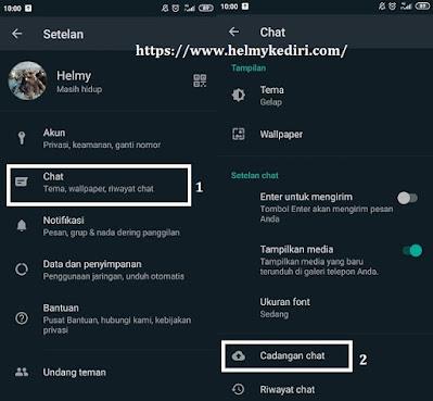 Cara backup chat whatsapp ke Googledrive