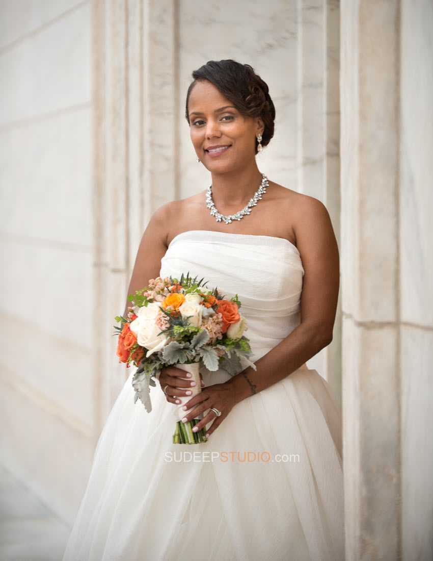 Bridal Portrait DIA Detroit Institute of Arts Wedding Photography - Ann Arbor Photographer Sudeep Studio.com