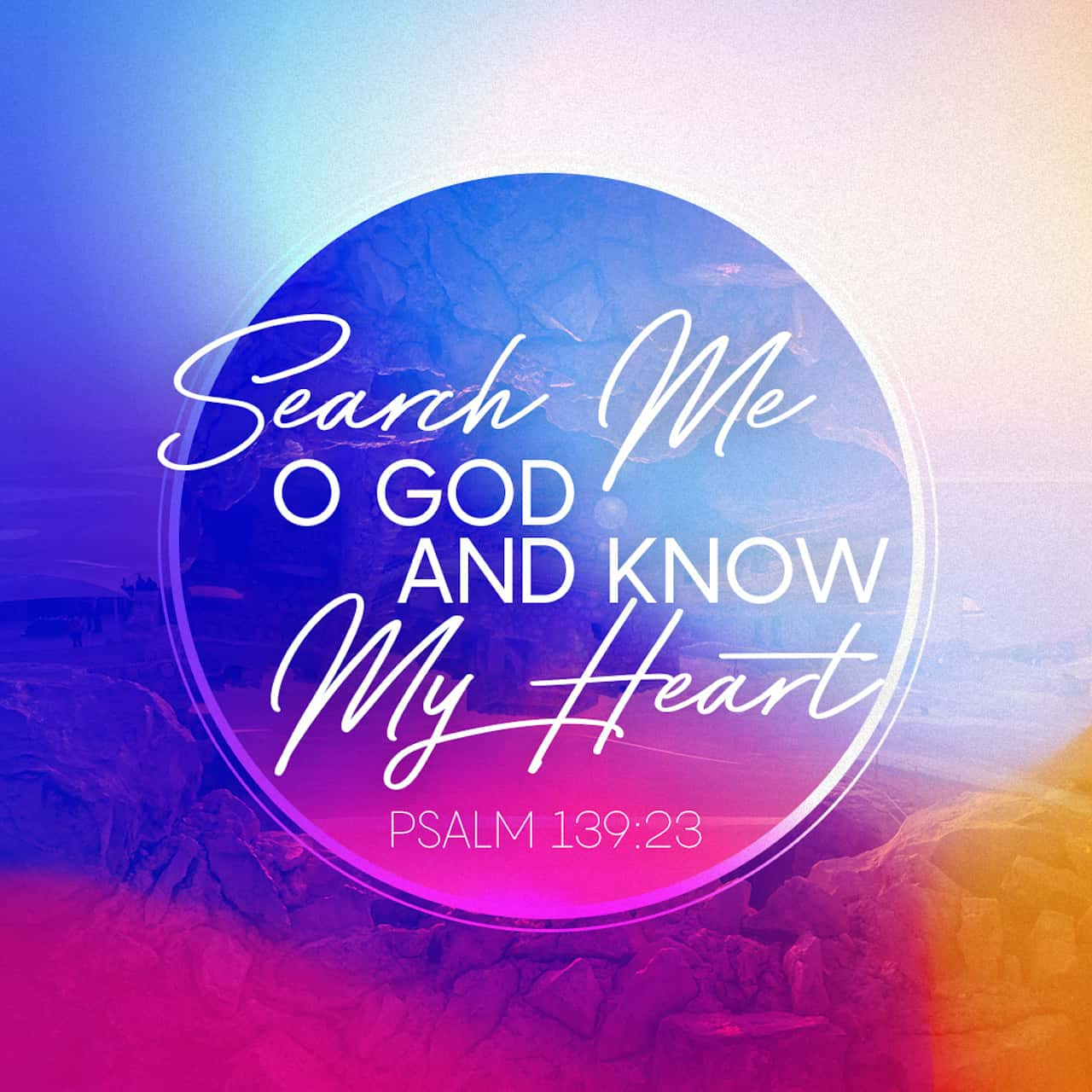 Search me, God, and know my heart; test me and know my anxious thoughts.  See if there is any offensive way in me, and lead me in the way everlasting. Psalms 139:23-24 NIV https://bible.com/bible/111/psa.139.23-24.NIV
