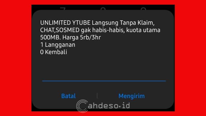 Paket Unlimited Youtube dan Apps