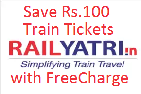 rail yatri save rs.100 rupees