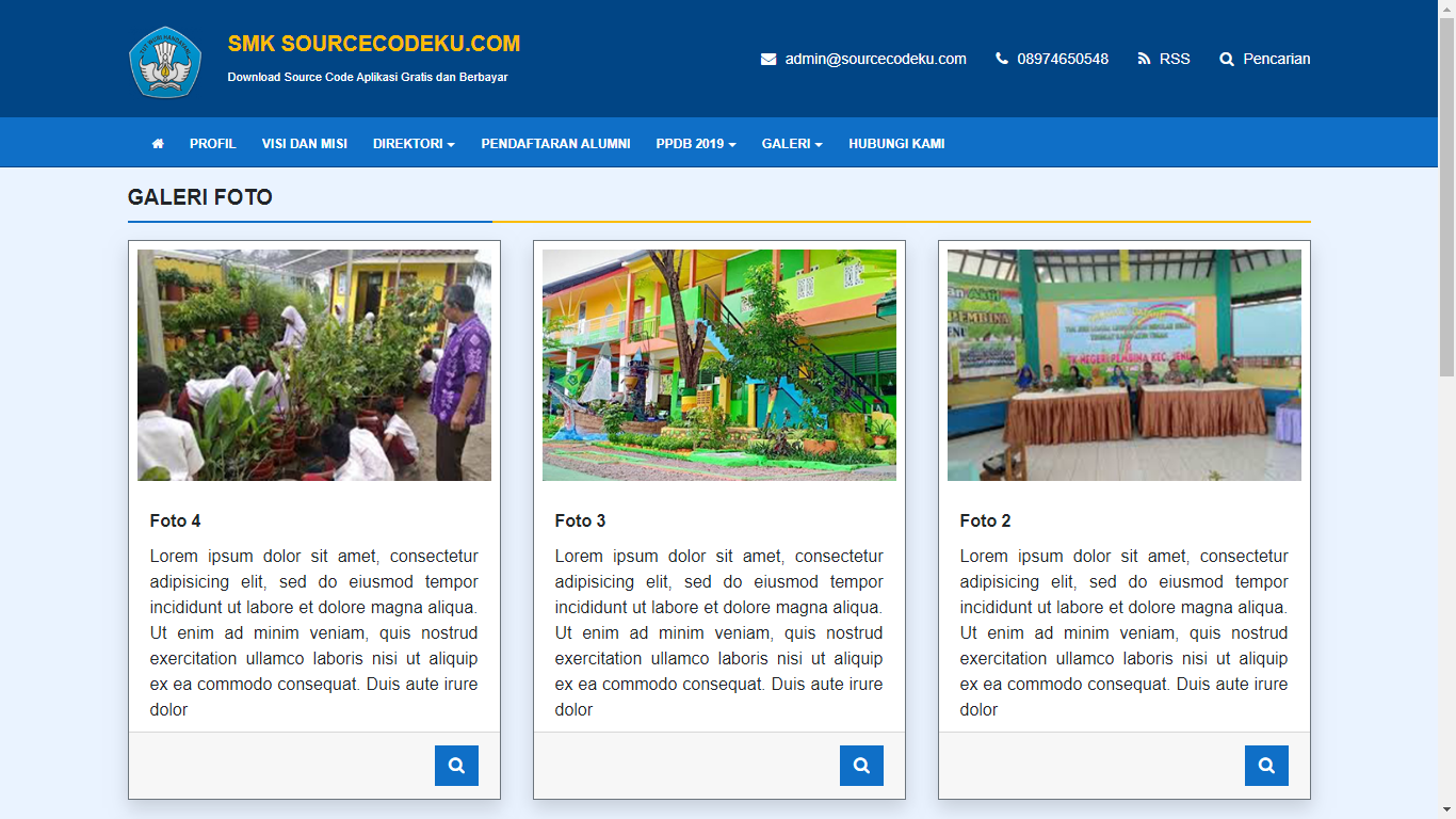 Aplikasi Sistem Informasi Manajemen (SIM) Sekolah - SourceCodeKu.com
