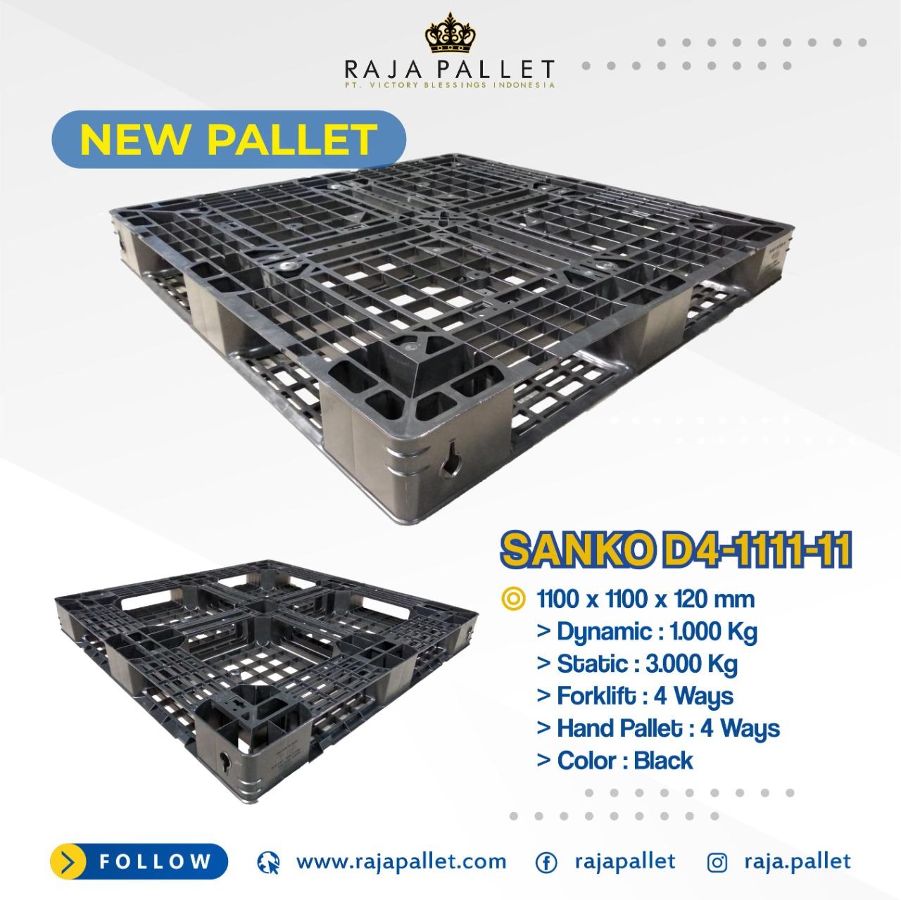 Pallet Plastik Baru Standard Industri Super Ringan | Ukuran 1100x1100x120mm