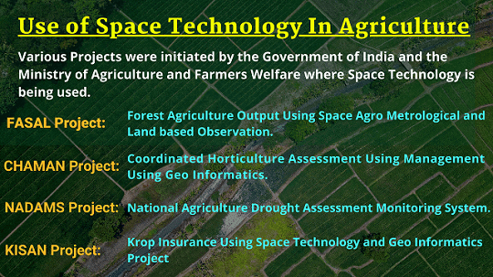 National Mission for use of Space technology in Agriculture