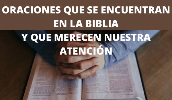 ORACIONES EN LA BIBLIA FAMOSAS