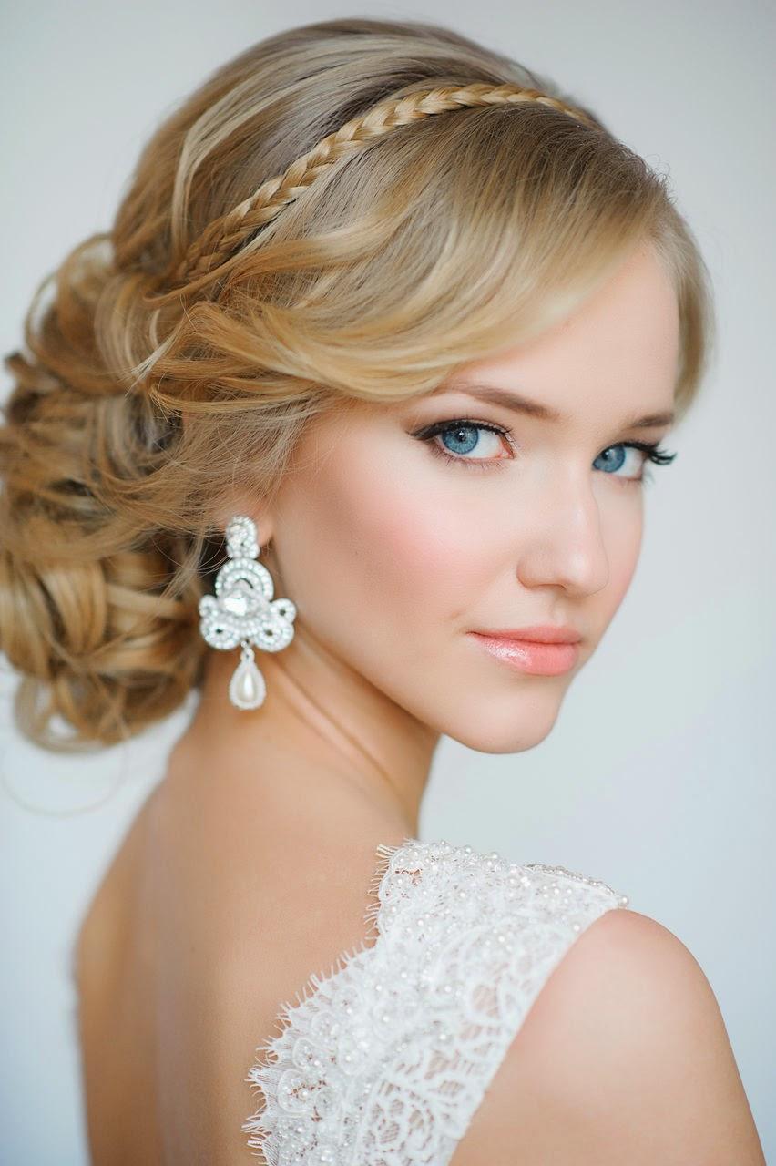 Peinados y tendencias de moda peinados para novias con - Peinados de semirecogido ...